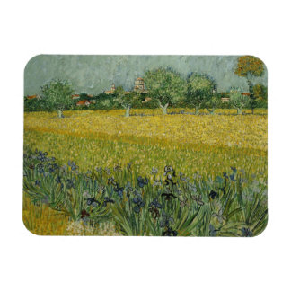 Field with flowers near Arles Premium Magnet