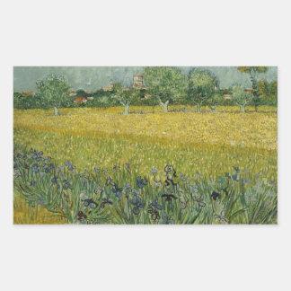 Field with flowers near Arles Sticker