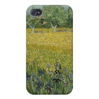 Field with Flowers near Arles, Vincent Van Gogh Case For iPhone 4