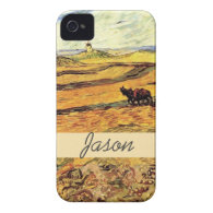 Field with Ploughman and Mill Vincent van Gogh. Case-Mate iPhone 4 Case