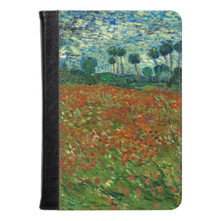 Field With Poppies By Van Gogh Fine Art Kindle Case at Zazzle