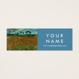 Field with Poppies by Van Gogh Fine Art Skinny Mini Business Card