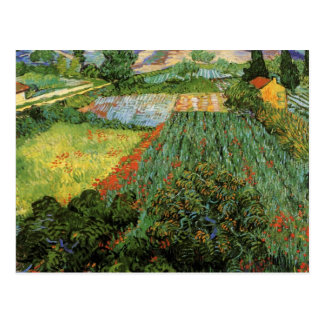 Field with Poppies by Vincent van Gogh Postcard