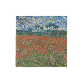 Field with Poppies Stone Magnet