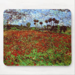 Field with Poppies Van Gogh Fine Art Mouse Pad