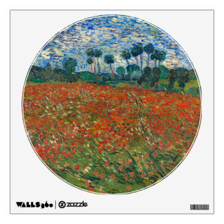 Field with Poppies Wall Decal