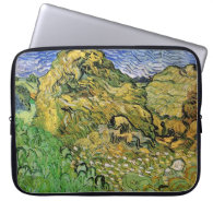 Field with Wheat Stacks, Vincent van Gogh. Laptop Computer Sleeve