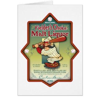 Fielder s Choice Malt Liquor Cards