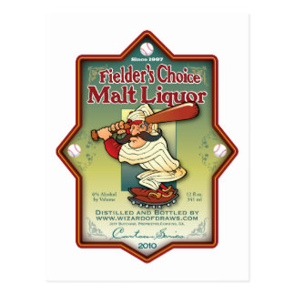 Fielder s Choice Malt Liquor Post Card