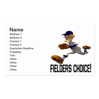 Fielders Choice Business Cards
