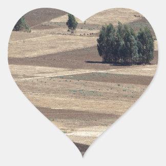 Fields after harvest heart sticker