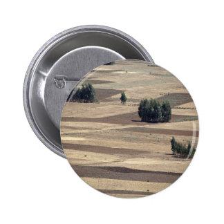 Fields after harvest pinback button