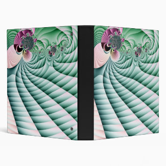 Fields and Flowers Fractal 3 Ring Binder
