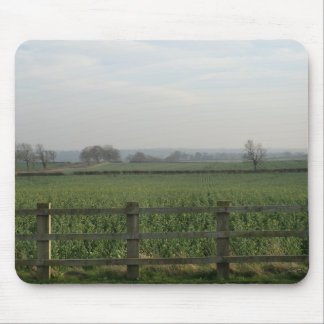 Fields at Woolthorpe Manor, England Mouse Pad