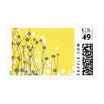 Fields - Gray and Yellow Postage Stamps