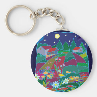Fields of Dreams Basic Round Button Keychain