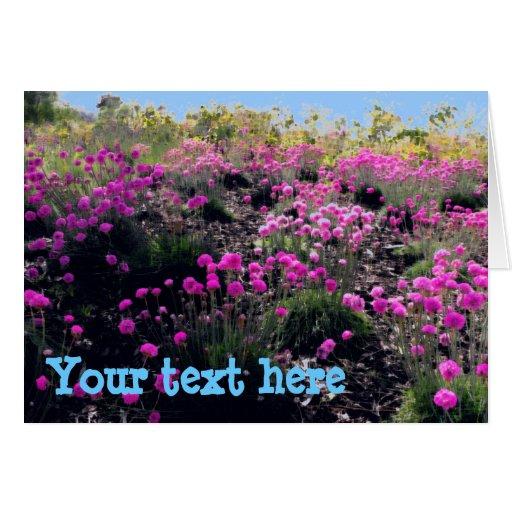 Fields of flowers customizable card