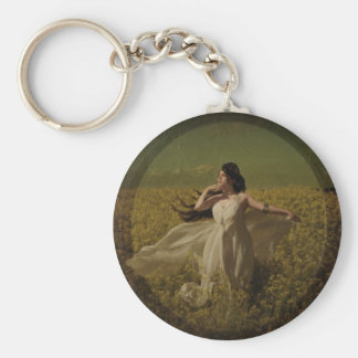Fields of Gold for your keys Basic Round Button Keychain