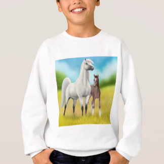 Fields of Gold Horse Kids Sweatshirt