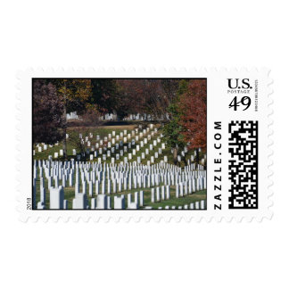 Fields of Gravemarkes lined two ways Postage