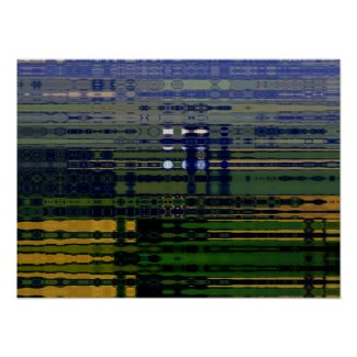Fields of Green Abstract Poster print