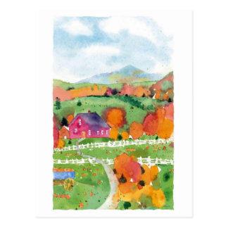 Fields of Orange Postcard