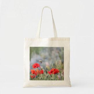 fields of poppy tote bag