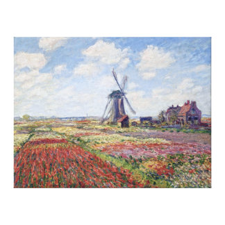 Fields of Tulip, by Claude Monet Canvas Print
