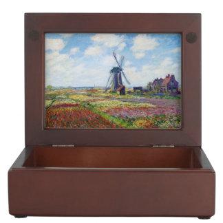 Fields of Tulip With The Rijnsburg Windmill Monet Memory Box