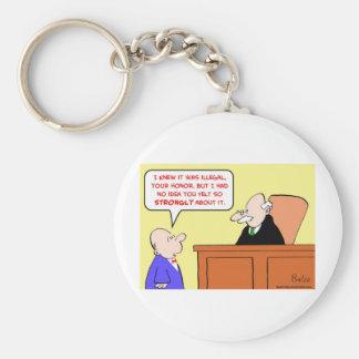 fieltro ilegal del juez fuertemente llaveros