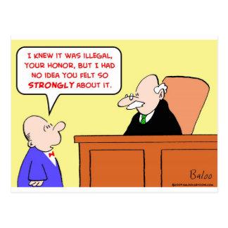 fieltro ilegal del juez fuertemente tarjetas postales