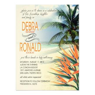 FIELTRO tropical de la papaya de la playa el | de Invitacion Personalizada