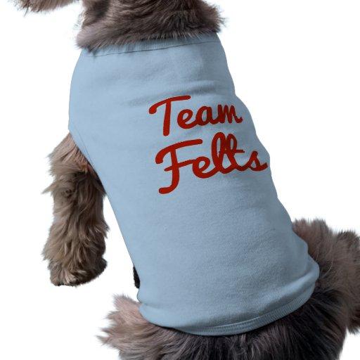 Fieltros del equipo camisa de mascota