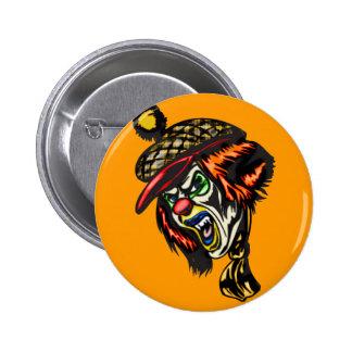 Fiendish Evil Clown 2 Inch Round Button