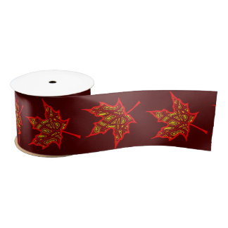 Fier Leaf Satin Ribbon