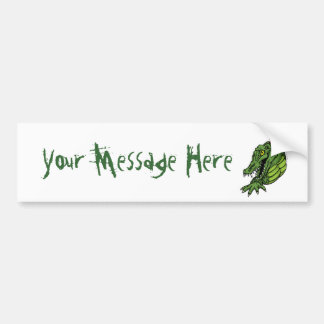 Fierce Alligator Gator Bumper Sticker