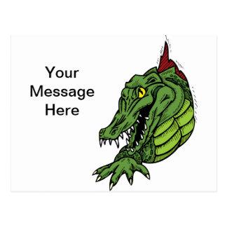 Fierce Alligator Gator Postcard