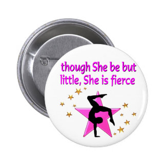 FIERCE AND MIGHTY GYMNAST BUTTON