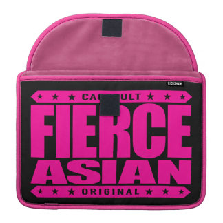 FIERCE ASIAN - Fearless Warrior and Genetic Freak MacBook Pro Sleeve