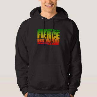 FIERCE BEARD - I Grow Fearless Primate Facial Hair Hooded Pullover