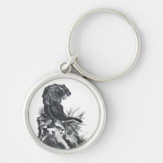 Fierce Black Panther Art Keychain