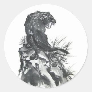 Fierce Black Panther Art Stickers