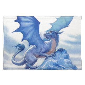 Fierce Blue Dragon Cloth Place Mat