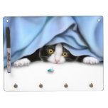 Fierce Bug Hunting Kitten Dry Erase Board
