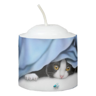Fierce Bug Hunting Kitty Cat Votive Candle