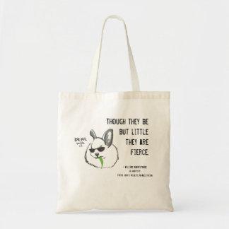 Fierce Bunny w/ Quote Tote Bag