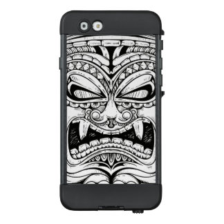 Fierce Carved Wood Totem Face LifeProof® NÜÜD® iPhone 6 Case