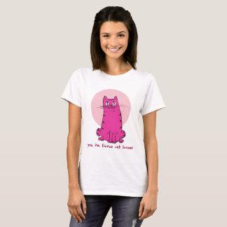 fierce cat lover sweet kitty funny cartoon T-Shirt