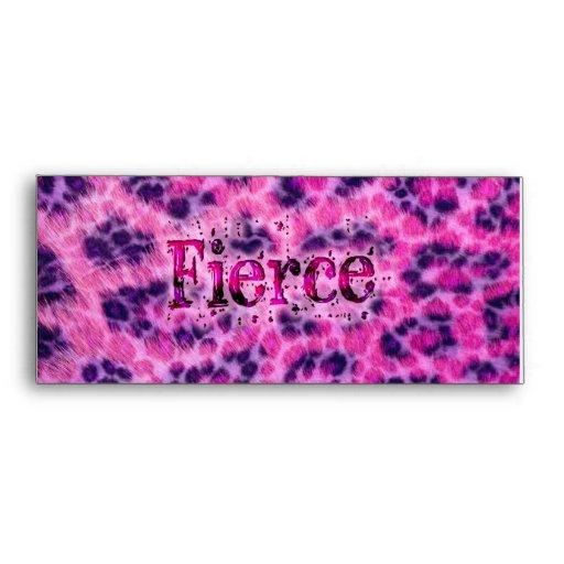 Fierce Cheetah Print Envelope