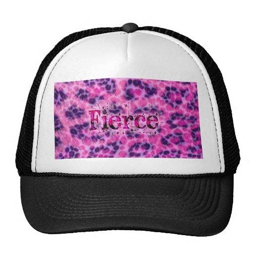 Fierce Cheetah Print Hats